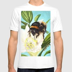 Bee on flower 5 MEDIUM Mens Fitted Tee White