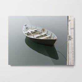 Green Rowboat Metal Print