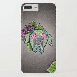 Great Dane with Floppy Ears - Day of the Dead Sugar Skull Dog iPhone Case
