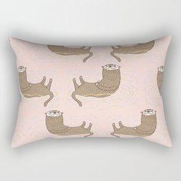 Otter Pink Pattern Rectangular Pillow