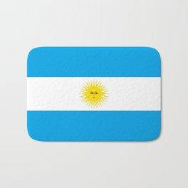 argentina country flag Bath Mat