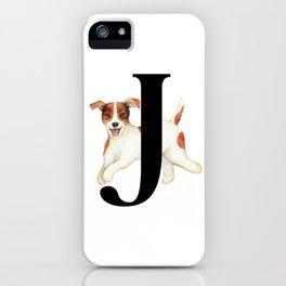 Dog Monogram Collection J iPhone Case