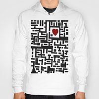 labyrinth Hoodies featuring Love Labyrinth by Barruf designs