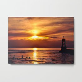 sunset at another place Metal Print