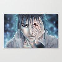 sasuke Canvas Prints featuring Sasuke Uchiha by sing-sei