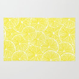 Lemon slices pattern design Rug