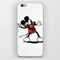 banksy iPhone & iPod Skins featuring Banksy Mouse by luis pippi