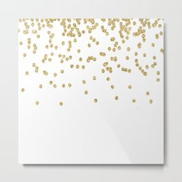 Sparkling golden glitter confetti - Luxury design Metal Print