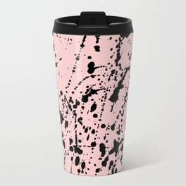 Splat Black on Blush Travel Mug