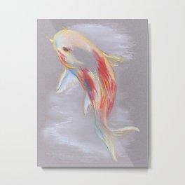 Koi Fish Swimming Metal Print