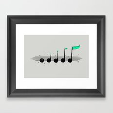 Biosphere Orchestra Gray Framed Art Print