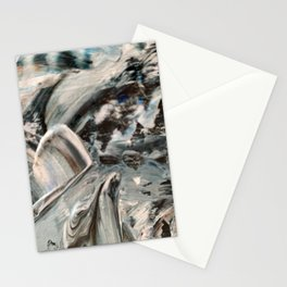 Abstract - Blue and Brown Stationery Cards