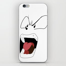 Angry woman iPhone Skin