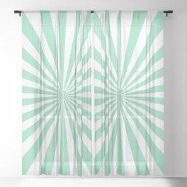 Starburst (Mint & White Pattern) Sheer Curtain