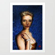 Portrait of: Scarlett Johanson Art Print