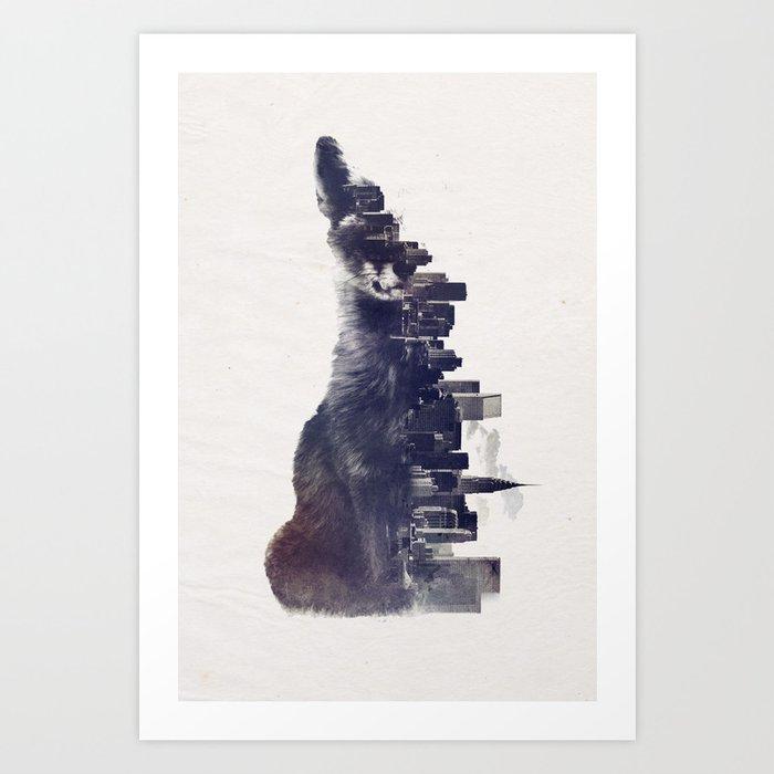 Fox from the City Art Print
