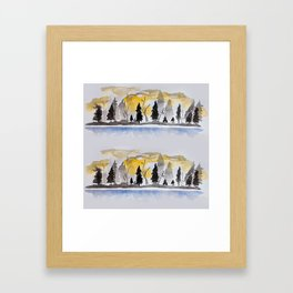 Chase Me Through The Forest Framed Art Print