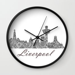 Liverpool City Skyline Wall Clock