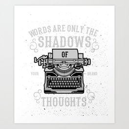 Shadows Of Thoughts Art Print