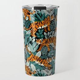 Bengal Tiger Teal Jungle Travel Mug