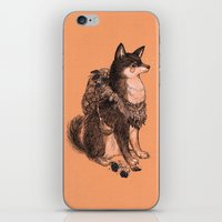 doge iPhone & iPod Skins featuring Shibe doge with mushrooms by Yulia Hochulia