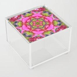 Pink Flower Mandala Acrylic Box