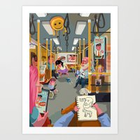 Budapest underground Art Print