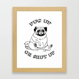 Pug Up Framed Art Print