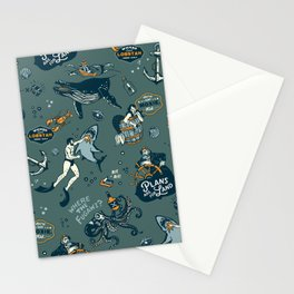 Vintage Ocean Pattern Stationery Cards