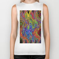 psychedelic Biker Tanks featuring Psychedelic by Frankie Cat