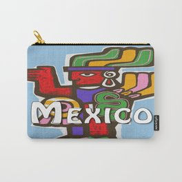 Mexico Aztec or Mayan Travel Carry-All Pouch