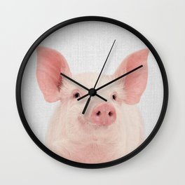 Pig - Colorful Wall Clock