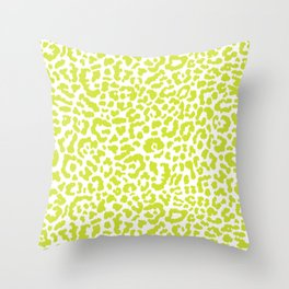 Chartreuse French Leopard Print Throw Pillow