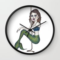 siren Wall Clocks featuring Siren by Young Clerks