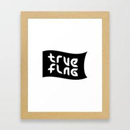 TRUE FLAG ambigram Framed Art Print