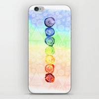 om iPhone & iPod Skins featuring OM by Sara Eshak