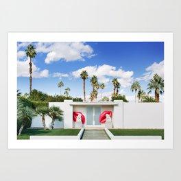 Palm Springs Lips Art Print