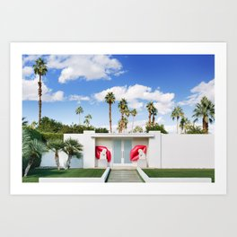 Palm Springs Lips Art Print