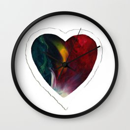 Flame Heart Wall Clock