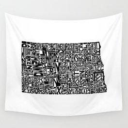 Typographic North Dakota Wall Tapestry