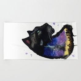 Galaxy Panther Beach Towel