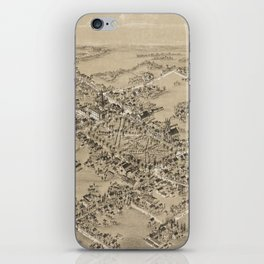 Vintage Pictorial Map of Guilford CT (1881) iPhone Skin