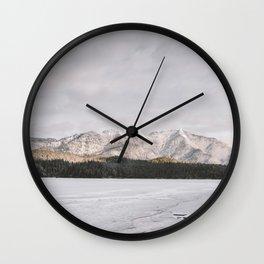 Frozen Lake Views - Landscape Photography Wall Clock
