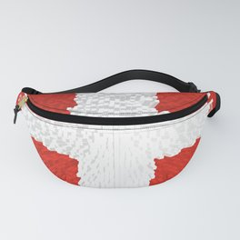 Extruded flag of Switzerland Fanny Pack