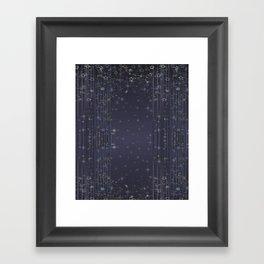 Gray abstract pattern , Christmas Framed Art Print