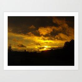 saskatchewan sunset part 1 Art Print
