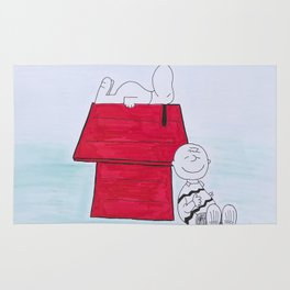 Charlie Brown and Snoopy Rug