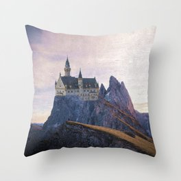 The Castle on the Hill Throw Pillow