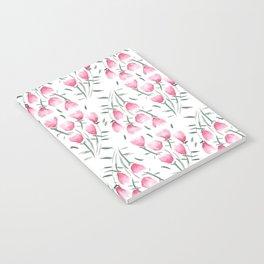 Watercolor pink flowers Notebook