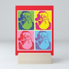 Santa Pop art Merry Christmas Mini Art Print